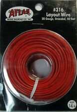 Atlas #316 RED 1 Conductor Layout Wire 50 feet 20 gauge stranded * All Scales
