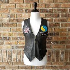 Genuine Leather Women's Size XS Black Biker Motorcycle Vest First Classics