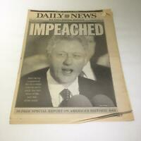 NY Daily News:12/20/1998 IMPEACHED bill clinton house of reps senate vote