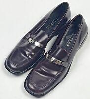Lauren Ralph Lauren Loafers Womens Size 7 1/2 AA Slip On Shoes Brown Leather