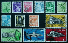 NIGERIA 1961: FULL SET OF 13 USED DEFINITIVE STAMPS