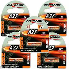 5 x ANSMANN A27 MN27 27A 12v Alkaline Batteries E27A EL812 L828 G27A