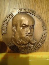 MEDAILLE BRONZE THEODORE AUBANEL POETE PROVENCAL AVIGNON FRENCH MEDAL Médaille