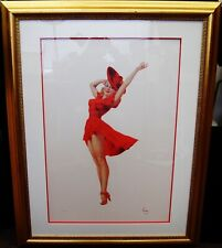 "Alberto Vargas ""Lady in Red"" Lithograph Limited Edition Proof #14/25 B3120"
