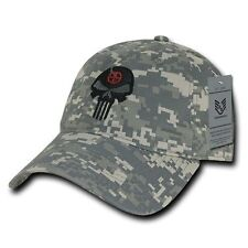 ACU Punisher Skull Military Navy Seal Special Forces Polo Baseball Hat Cap