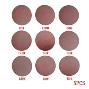 2,3,4 inch 60-120 Grit Sander Disc Sanding Polishing Pad Sand Paper 5pcs