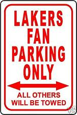 """LAKERS FAN PARKING ONLY SIGN 12""""x18"""" ALUMINUM SIGN"""