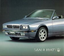 Maserati Spyder iE 2.0 & 2.8 1991-94 Foldout Sales Brochure In English & Spanish