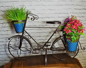 Pflanzfahrrad Metall braun B 94cm Blumenfahrrad Dekofahrrad Fahrrad Kräuter Deko