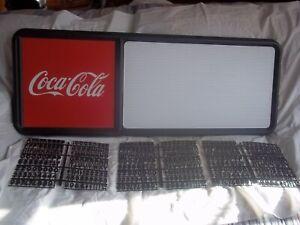 New! 3ft Coca-Cola Menu Board Sign w/3 sets of Coke Letters,Numbers & Symbols!