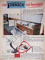 PUBLICITÉ DE PRESSE 1955 C'EST FORMICA C'EST FORMIDABLE
