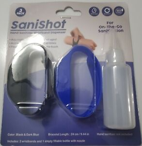 portable,silicone wristband bracelet sanitiser gel dispenser