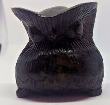 Collectable Wooden Owl Ornament. Black Forest Style.