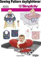 Baby Shopping Cart Chair Cover Bib Toy Sewing Pattern 4225 Simplicity NEW #z