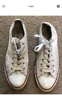 Converse White All Star Low Trainers - UK7