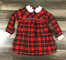 Vintage Viyella Kids Plaid Wool Cotton Dress Long Sleeve