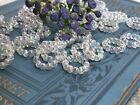 Vintage Aurora Borealis Beads, Austria, AB Connectors, Circle Beads, Hoop 746