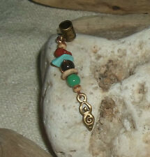 ONE Dreadlock Bead Goddess Dread Jewellery Hair Jewelry Dangle Cuff Charm Bronze