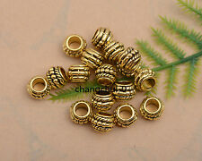 50/100Pcs Tibetan Silver Charm Tube Spacer Beads Jewelry Findings DK235