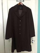 100% Pure Cashmere Coat - Size 22W - L.L. Collezioni Italia - BRAND NEW