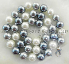 AA Fashion 8mm Multicolor South Sea Shell Pearl Necklace 18 Inch