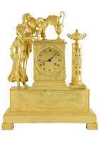 HEBE ET JUPITER. Kaminuhr Empire clock bronze horloge antique pendule uhren