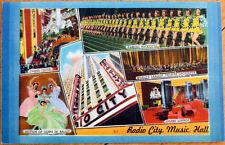 1940s New York City, NY Linen Postcard: Radio City Music Hall, Rockettes