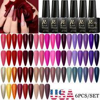 6Pcs RBAN NAIL Gel Nail Polish Set Soak Off UV LED Color Gel Varnish US STOCK