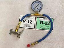 "Can Tap R12, R22 Charging Hose & Gauge Set For Smooth Top Cans, 20"" Hose & Gauge"