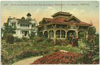 Postcard Kiosk Residence Late Paul De Longpre Hollywood LA California CA 1900's