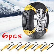 6x Wheel Tire Anti-Skid Snow Tyre Chains Beef Strap Belt Car Truck SUV