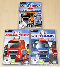 3 PC SPIELE SAMMLUNG GERMAN TRUCK GOLD EURO TRUCK UK TRUCK SIMULATOR - TRUCKER