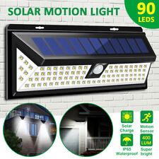 90LED Solar Power Wall Light PIR Motion Sensor Outdoor Garden Yard Security Lamp