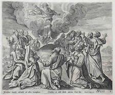 Cornelis de Visscher (1629-1658) L'Ascension du Christ eau-forte néerlandais Ams