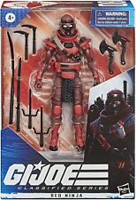 G.I. Joe Classified Series Red Ninja Action Figure 08 Collectible Premium Toy
