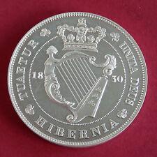 IRELAND 1830 WILLIAM IV SILVER PROOF PATTERN CROWN - MINTAGE 100 - coa