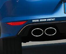 Aufkleber DIESEL GEGEN GRETA !! Autoaufkleber Umwelt Feinstaub Sticker JDM OEM