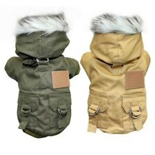 Pet Dog Clothes Winter Warm Fleece Lined Jacket Coat Windproof Vest Coat Tops