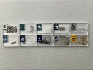 Mini Very Precious Metal 10 Periodic Elements Stand Iridium Rhodium Osmium Pd Au