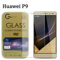 2 X 100% Genuine Gorilla Tech Tempered Glass Film Screen Protector For Huawei P9