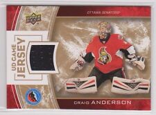 CRAIG ANDERSON 2014 Upper Deck Hall of Fame Jersey #HHOF-CA UD Game Used Ottawa