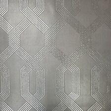 Y6221202 Viva Lounge York Mid Century Contemporary dark Silver Gray Wallpaper 3D