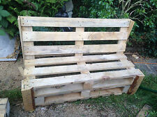 Handmade garden bench from reclaimed pallets