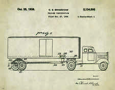 Semi Truck Patent Poster Art Print  Peterbilt Mack Toys Parts Vintage  PAT300