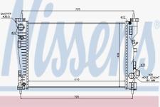 Kühler Motorkühlung - Nissens 60064