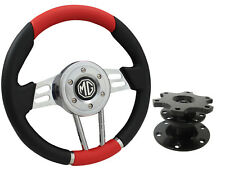 QUICK RELEASE RED V2 SPORTS STEERING WHEEL 310mm 6x70mm - MG,