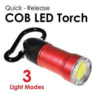Quick Release COB LED Torch - Red Dzine Light Up Accessory Keyring #244