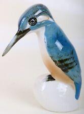 Original Royal Dux Eisvogel glasiert 17 cm Porzellanfigur