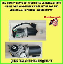 FOR RENAULT NISSAN VAUXHALL 5 PIN FRONT WINDSCREEN WIPER MOVANO VIVARO TRAFIC