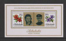 Aitutaki - 1973, Royal Wedding sheet - MNH - SG MS84